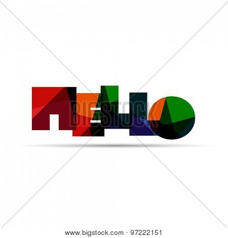 Hello word icon or logo design. Web icon, button or message for web site design, presentation and/or application.