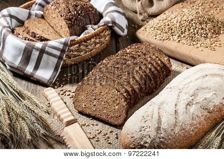 Loaves Of Rye Bread