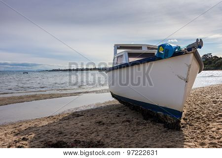 Beached Fishing Boat