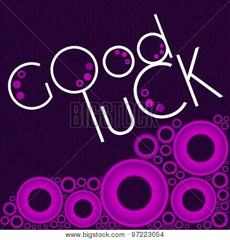 Good Luck Purple Pink Rings