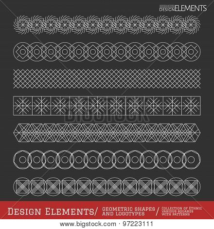 Set Of Geometric Hipster Shapes And Logotypes65488851Black