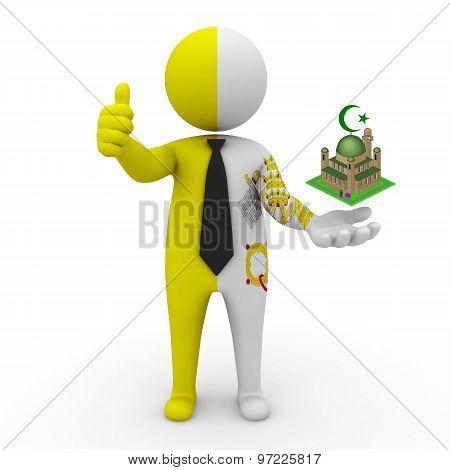 3d businessman people Vatican - Muslim mosque and Islam in Vatican