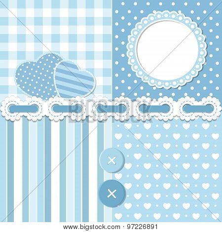 Blue Scrapbook Set