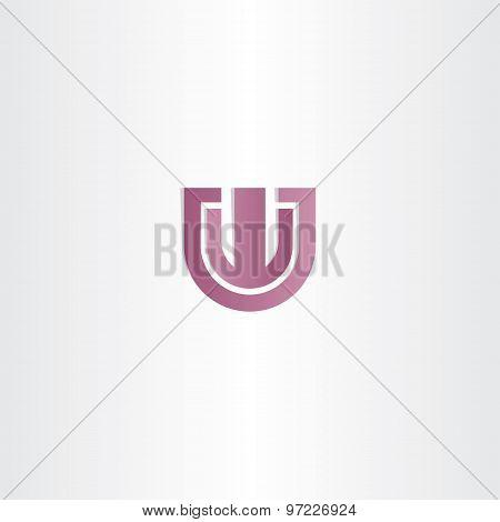 Purple Letter W Logotype Vector Design Element