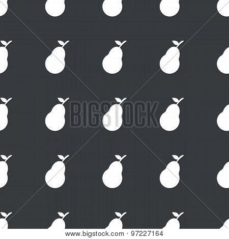 Straight black pear pattern