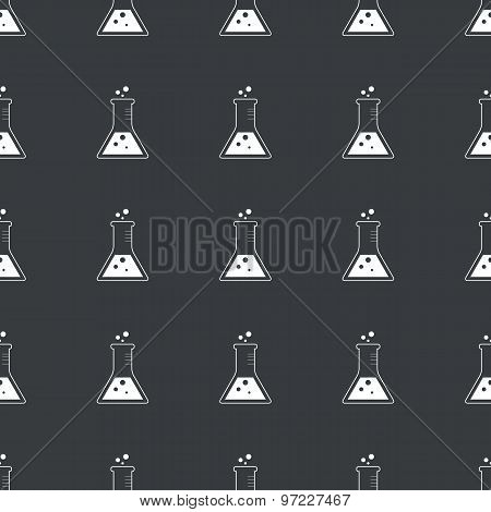 Straight black conical flask pattern