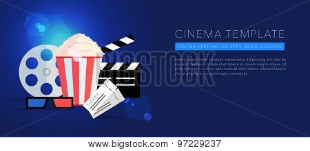 cinema template background vector