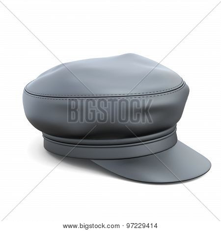 Leather Cap Isolated On White