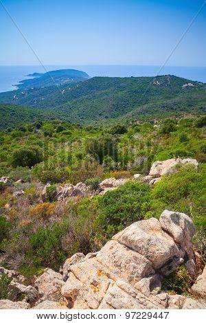 South Corsica, Vertical Coastal Landscape With Cape