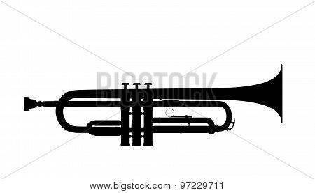 Silhouette Of Trumpet