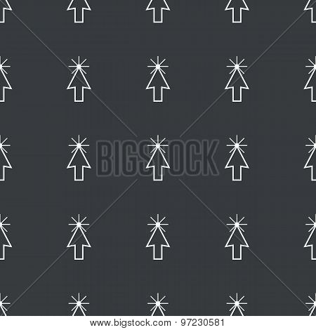Straight black arrow cursor pattern