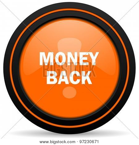 money back orange icon
