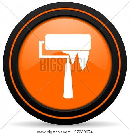 brush orange icon paint sign