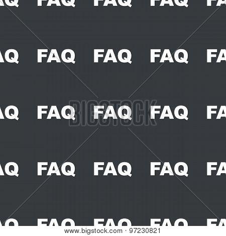 Straight black FAQ pattern