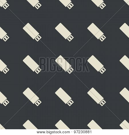 Straight black USB stick pattern