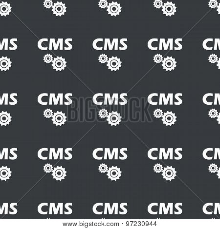 Straight black CMS settings pattern
