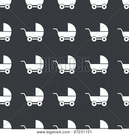 Straight black pram pattern