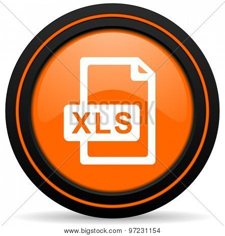 xls file orange icon