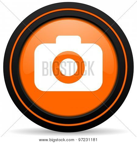photo camera orange icon photography sign