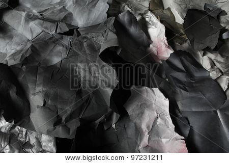 torn colored paper, texture, background, black and white