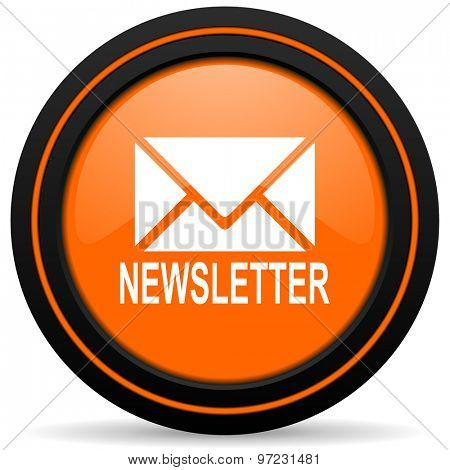 newsletter orange icon