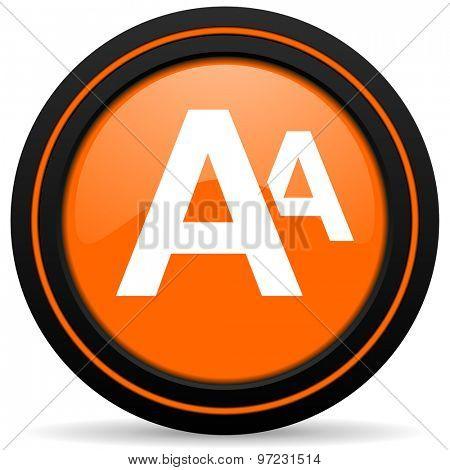 alphabet orange icon