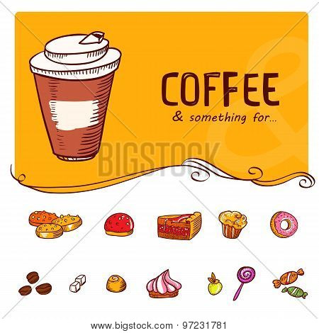 Something For Coffee Icons Set
