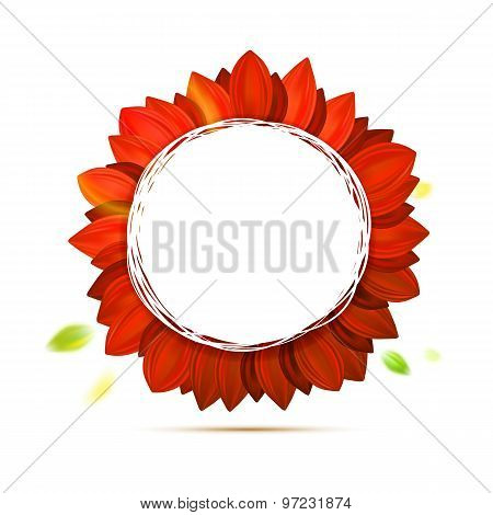 Abstract Flower, Hot Colors Vector