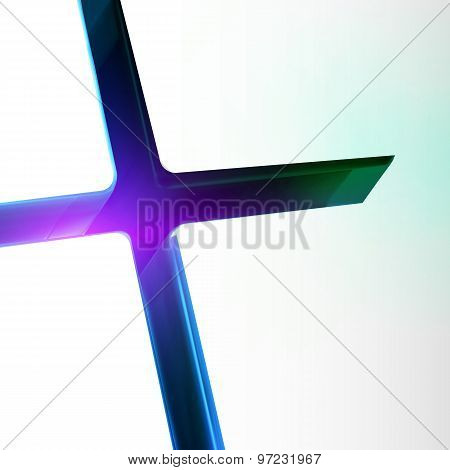 Blue Color Downhill Lighting Cross Crack Abstract Background