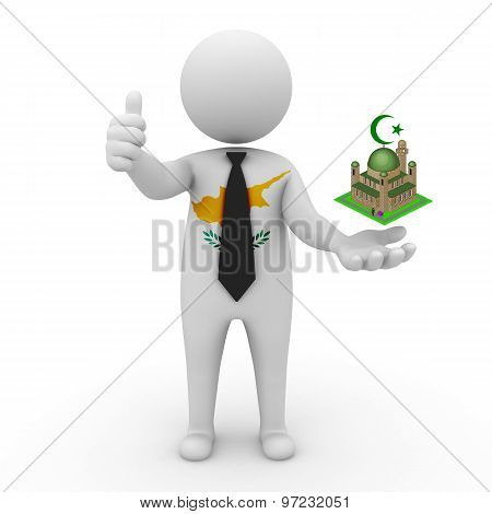 3d businessman people Cyprus - Muslim mosque and Islam in Cyprus