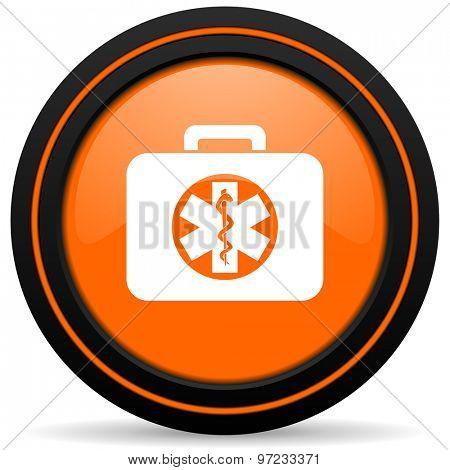 rescue kit orange icon emergency sign