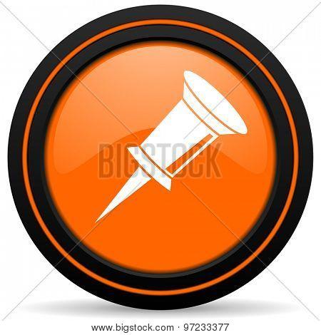 pin orange icon