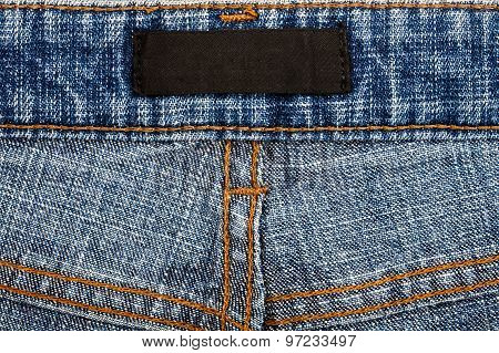 Blank Fabric Jeans Label