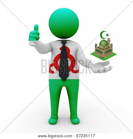 3d businessman people Ingushetia - Muslim mosque and Islam in Ingushetia