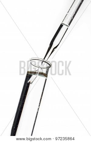 Test Tubes And Pipette Drop, Laboratory Glassware