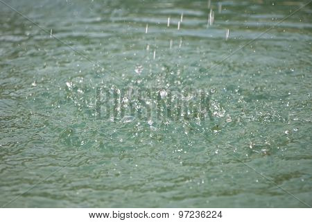 Image light drops on surface of water