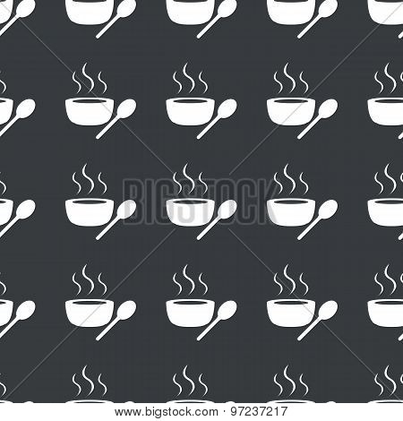 Straight black hot soup pattern