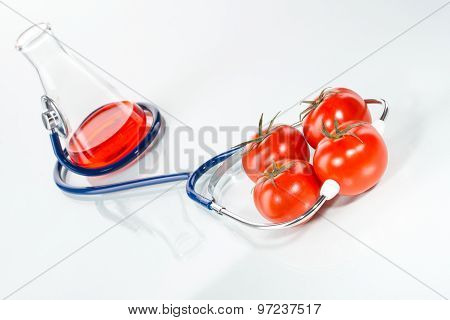 Stethoscope With Tomatoes , Analytical