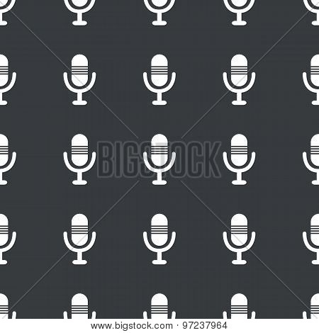 Straight black microphone pattern