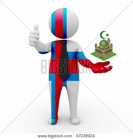 3d businessman people Faroe Islands - Muslim mosque and Islam in Faroe Islands
