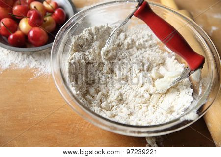 Making Pie Crust Dough