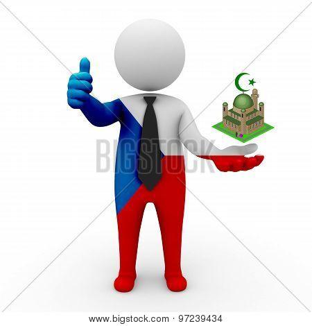 3d businessman people Czech Republic - Muslim mosque and Islam in Czech Republic