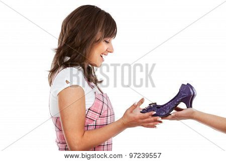 Young Woman With New Shoes