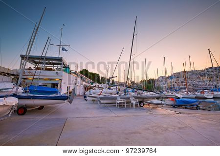 Yacht club in Athens.