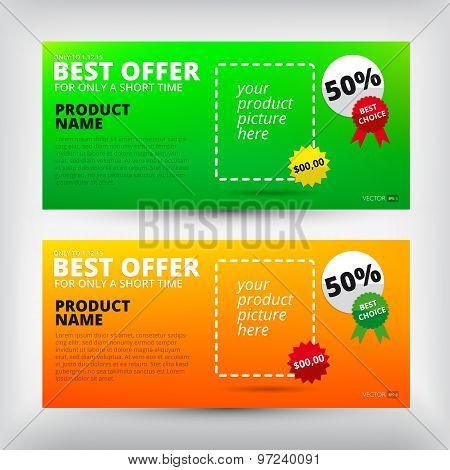 Vector sale backgrounds. Banners set.