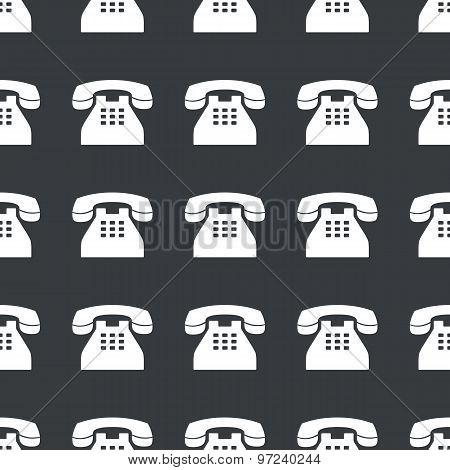 Straight black old phone pattern