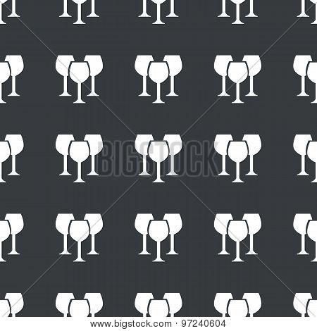 Straight black wine glass pattern