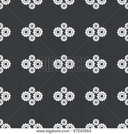 Straight black cogs pattern