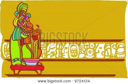 Mayan Bloodletting Sacrifice