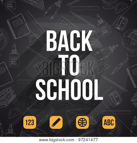 Vector background. Back to School.